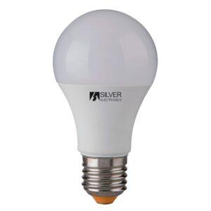 Lâmpada LED esférica Silver Electronics 980927 E27 10W Luz quente 5000K