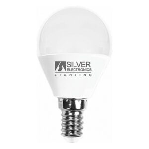 Lâmpada LED esférica Silver Electronics E14 7W Luz quente 3000K