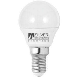 Lâmpada LED esférica Silver Electronics Eco E14 5W Luz branca 6000K