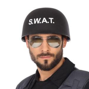 Capacete de Polícia Swat Preto