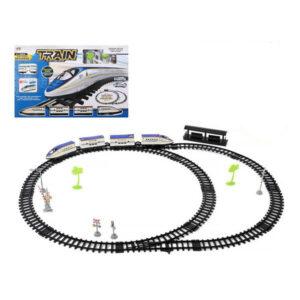 Tren com Circuito Branco Azul 118279