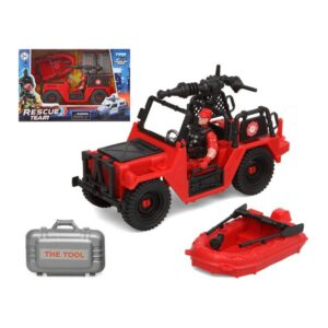 Playset Firefighters Rescue Team Vermelho