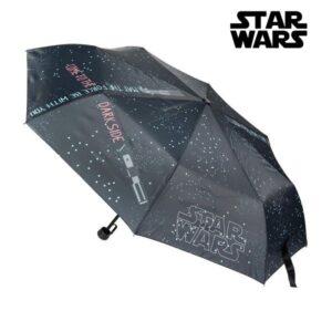 Guarda-chuva Dobrável Star Wars Preto (ø 53 cm)