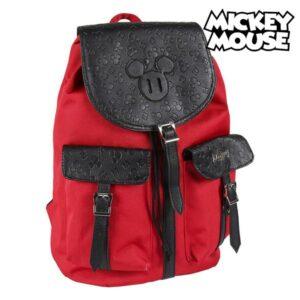 Mochila Casual Mickey Mouse Vermelho Preto