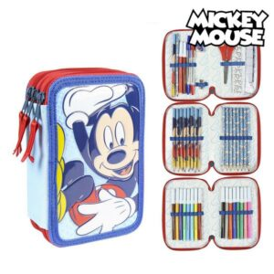 Estojo Triplo Giotto Mickey Mouse Azul (43 Pcs)