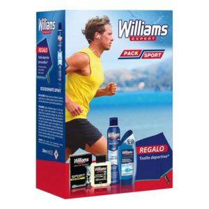 Conjunto de Cuidado Pessoal para Homem Pack Sport Williams (4 pcs)