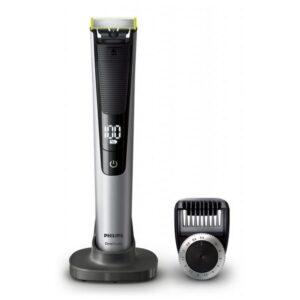 Máquina de Barbear Elétrica Recarregável Philips QP6520/20 ONEBLADE Preto Prateado