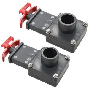 Válvula de regulação para piscina 2 pcs 38 mm - PORTES GRÁTIS