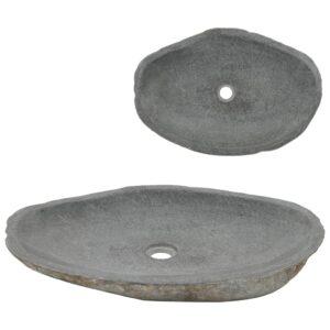 Lavatório pedra do rio oval 60-70 cm - PORTES GRÁTIS