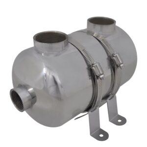 Permutador de calor, piscina, 292 x 134 mm 28 kW - PORTES GRÁTIS