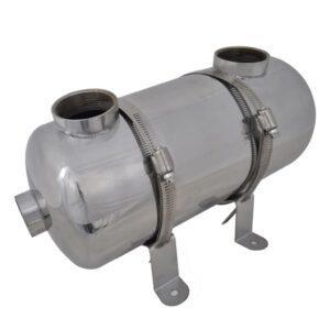 Permutador de calor, piscina, 355 x 134 mm 40 kW - PORTES GRÁTIS