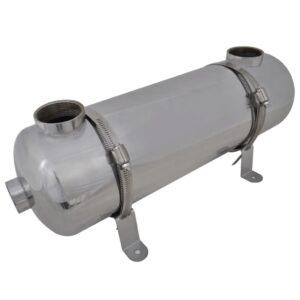 Permutador de calor, piscina, 485 x 134 mm 60 kW - PORTES GRÁTIS