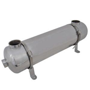 Permutador de calor para piscina 613 x 134 mm 75 kW - PORTES GRÁTIS