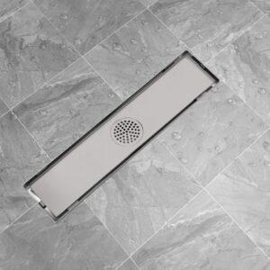 Dreno de chuveiro linear 530x140 mm aço inoxidável - PORTES GRÁTIS