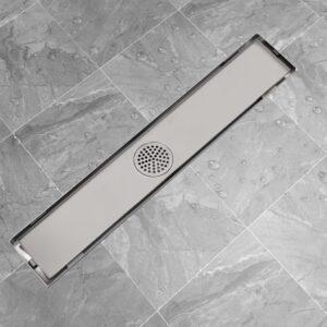 Dreno de chuveiro linear 630x140 mm aço inoxidável - PORTES GRÁTIS