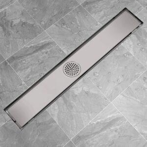 Dreno de chuveiro linear 730x140 mm aço inoxidável - PORTES GRÁTIS
