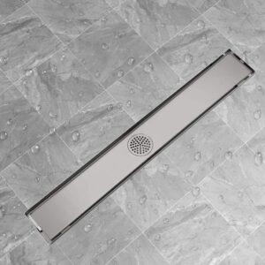 Dreno de chuveiro linear 830x140 mm aço inoxidável - PORTES GRÁTIS