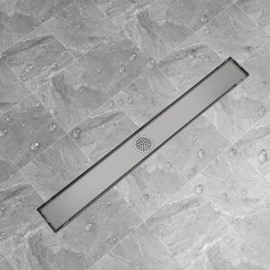 Dreno de chuveiro linear 930x140 mm aço inoxidável - PORTES GRÁTIS
