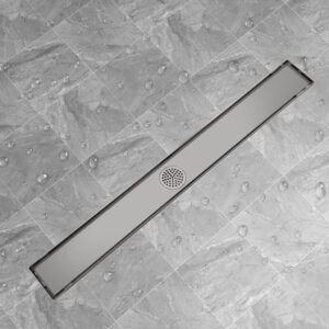 Dreno de chuveiro linear 1030x140 mm aço inoxidável - PORTES GRÁTIS