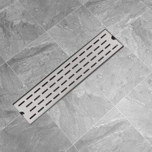 Dreno de chuveiro linear linhas 530x140 mm aço inoxidável - PORTES GRÁTIS
