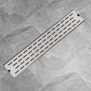 Dreno de chuveiro linear linhas 630x140 mm aço inoxidável - PORTES GRÁTIS