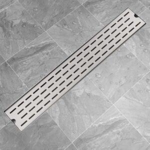 Dreno de chuveiro linear linhas 730x140 mm aço inoxidável - PORTES GRÁTIS
