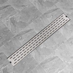 Dreno de chuveiro linear linhas 830x140 mm aço inoxidável - PORTES GRÁTIS