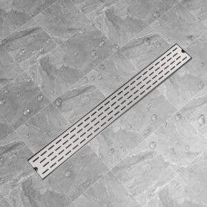 Dreno de chuveiro linear linhas 930x140 mm aço inoxidável - PORTES GRÁTIS