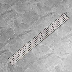 Dreno de chuveiro linear linhas 1030x140 mm aço inoxidável - PORTES GRÁTIS