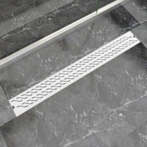 Dreno de chuveiro linear onda 930x140 mm aço inoxidável - PORTES GRÁTIS