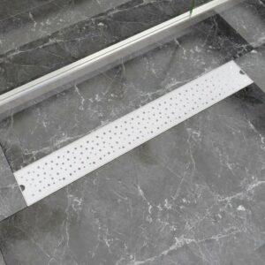 Dreno chuveiro linear bolhas 830x140 mm aço inoxidável - PORTES GRÁTIS