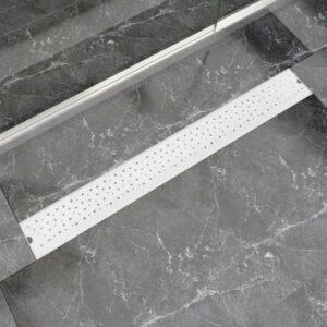 Dreno de chuveiro linear bolhas 930x140 mm aço inoxidável - PORTES GRÁTIS