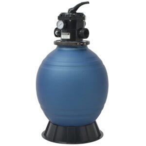 Filtro de areia p/ piscina válvula de 6 posições azul 460 mm - PORTES GRÁTIS