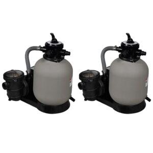 Bombas de filtragem por areia 2 pcs 600 W 17 000 l/h - PORTES GRÁTIS