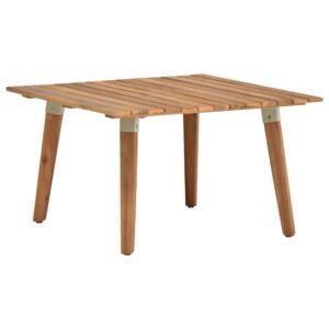Mesa de centro p/ jardim 60x60x36 cm madeira de acácia maciça - PORTES GRÁTIS