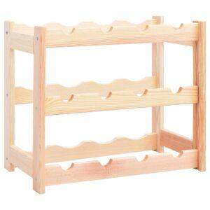 Garrafeira para 12 garrafas madeira de pinho - PORTES GRÁTIS
