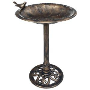 Banheira para pássaros de jardim plástico cor bronze - PORTES GRÁTIS