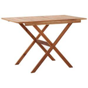 Mesa de jardim dobrável 110x67x74 cm madeira de acácia maciça - PORTES GRÁTIS