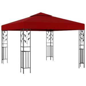 Gazebo 3x3 m vermelho tinto - PORTES GRÁTIS