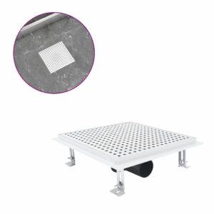 Dreno de chuveiro 25x25 cm aço inoxidável - PORTES GRÁTIS
