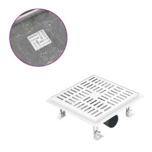 Dreno de chuveiro quadriculado 20x20 cm aço inoxidável  - PORTES GRÁTIS