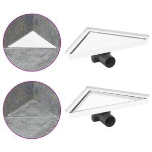 Dreno de chuveiro com tampa 2 em 1 25x25 cm aço inoxidável - PORTES GRÁTIS