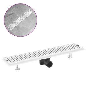 Dreno de chuveiro com ventilação 63x14 cm aço inoxidável - PORTES GRÁTIS