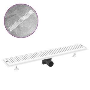Dreno de chuveiro com ventilação 73x14 cm aço inoxidável - PORTES GRÁTIS
