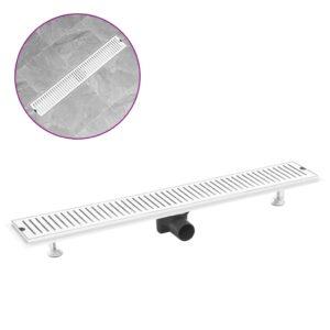 Dreno de chuveiro com ventilação 83x14 cm aço inoxidável - PORTES GRÁTIS