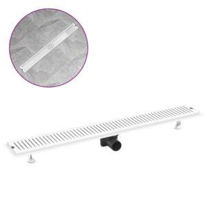 Dreno de chuveiro com ventilação 93x14 cm aço inoxidável - PORTES GRÁTIS