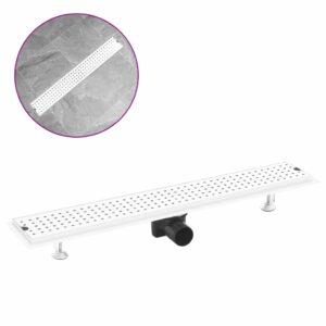 Dreno de chuveiro com pontos 73x14 cm aço inoxidável - PORTES GRÁTIS