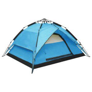 Tenda de campismo pop-up 2-3 pessoas 240x210x140 cm azul - PORTES GRÁTIS