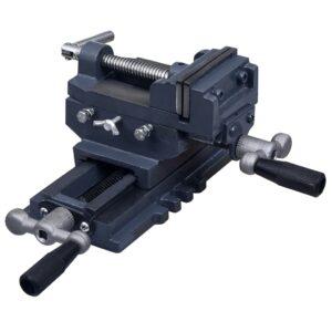 Torno-prensa manual com corrediça transversal 70 mm - PORTES GRÁTIS