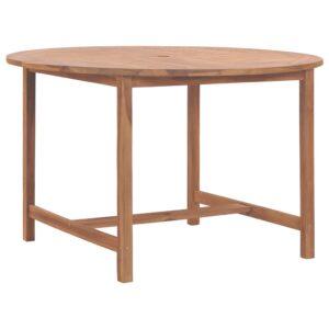 Mesa de jardim 120x76 cm madeira de teca maciça - PORTES GRÁTIS